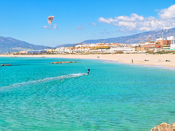 playa los lances en Tarifa, andalusia
